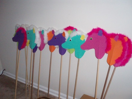 ponies in a row